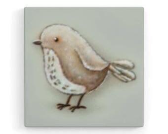 Bird 3 (right)-Children's room canvas 20 x 20 x 2 cm