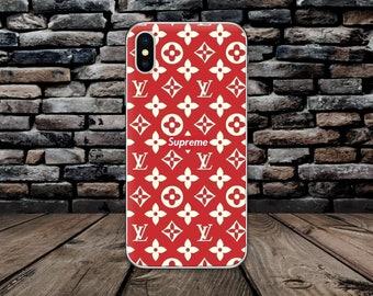Red Supreme iPhone 8 case Louis Vuitton Google Pixel 2 case Vuitton Logo Galaxy S8 case LV case iPhone X Supreme Logo case iPhone 7 Note 8