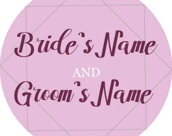 """Personalized Printable Wedding Stickers 1.5""""x1.5"""""""