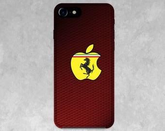 Ferarri Apple  3D/silicon Cases for  IPhone X, 8/8 Plus, 7/7 Plus, SE, 6s/6, 5/5S/5C, 4/4S stylish