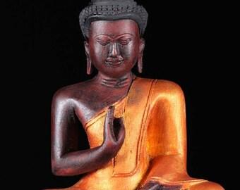 Hand Carved Abhaya Mudra Buddha Statue