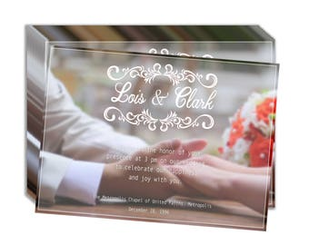 Holding Hands Wedding Invitation- 11in x 8in