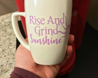 Rise And Grind Coffee Mugs, Custom Coffee Mug, Funny Coffee Mugs, Cool Coffee Mugs, Personalized Coffee Mugs, Unique Coffee Mugs, Coffee Mug