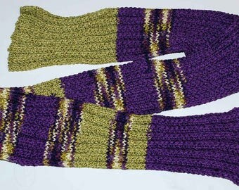 Hand-knitted bamboo scarf