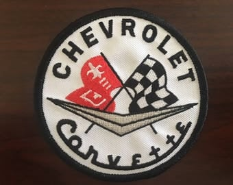 """Chevrolet Corvette patch Made in the USA! 3-1/2"""" x 3-1/2"""""""