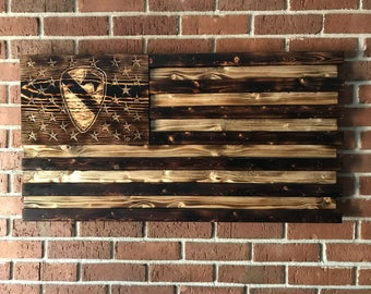 Wall Art, Wall Decor, Wood Signs, Wood Wall Art, Wooden Signs, Rustic Wall Decor, 1st Cavalry Division, U.S. Army, American Flag
