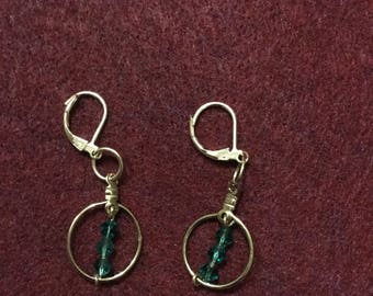 Handmade Swarovski Crystal dangle earrings.