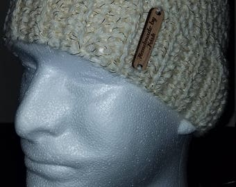 Ivory and gold hat