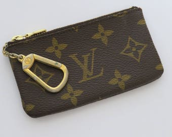Auth Louis Vuitton Pochette Cles Monogram Coin Case M62650