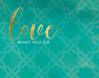Love What You Do range of notebooks and diaries