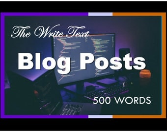 Blog Post - Blog - Blog Writing Service - Article - Guest Post - Web Content - Ghost Writing - Freelance Writing - Writing Service