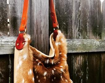 Axis Deer hide handbag