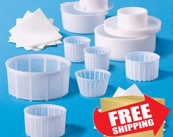The largest set of Cheese Making molds(21 PCS) National Cheese forms manufacture Cheese mold Homemade cheese