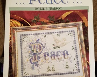 Peace with dove cross stitch pattern