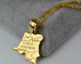 Golden Democratic Republic of Congo Necklace