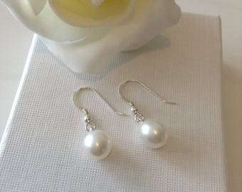 Sterling Silver Earrings With Freshwater Pearls