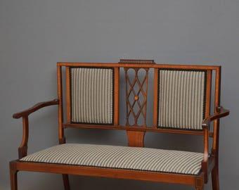 K0263 Edwardian mahogany and inlaid sofa