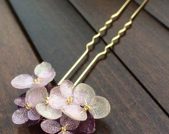 Real Preserved Hydrangae Flower Hair Picks