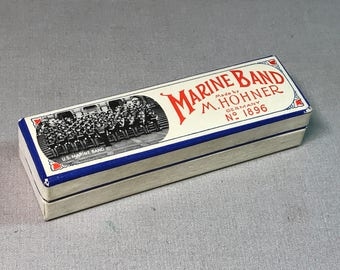 Marine Band Harmonica No. 1896 by M. Hohner