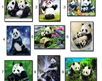 5D Diamond Mosaic Diy Diamond Embroidery panda 3d Square Paste Full Cross Stitch Kit Diy Diamond Painting
