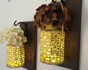 Lantern Sconce/Lantern Sconces/Wall Decor/Wall Hangings/Sconces/Sconce/Rustic Decor/Hanging Lantern Sconces/Farmhouse Decor/Rustic Decor