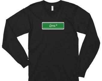 Green.St Long Sleeve Tee ( Black & White )