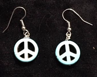 Turquoise Peace Earrings