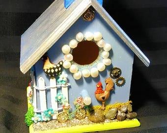 Fairy house,  nightlight, tiny house with pearls,