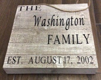 12x12 Hand Painted Wooden Sign