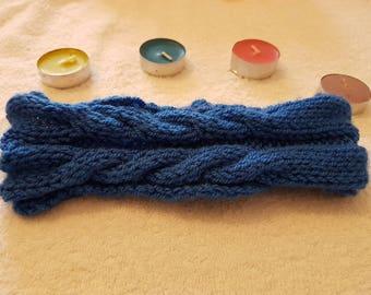 Knitted - Blue Headband