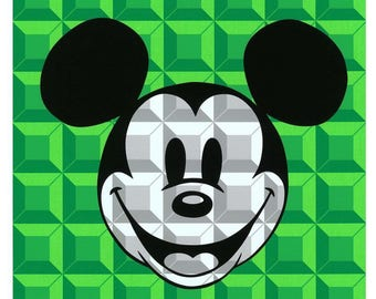 8-Bit Block Mickey (Green)