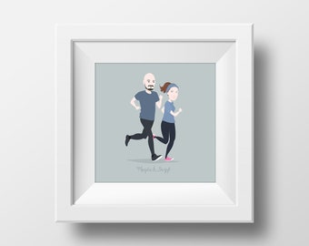 Custom portrait illustration, birthday/wedding/anniversary gift - DIGITAL FILE (not a physical print)