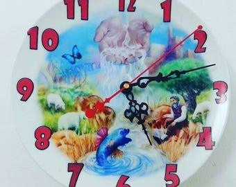 The Land of Milk and Honey! Vintage wall- clock