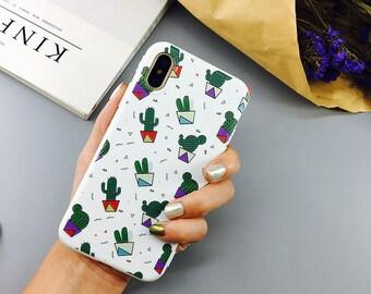iPhone X Artsy Cactus Case