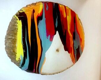 Paint Drip on Wood