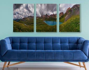 3 piece canvas print of Ice Lake, Colorado