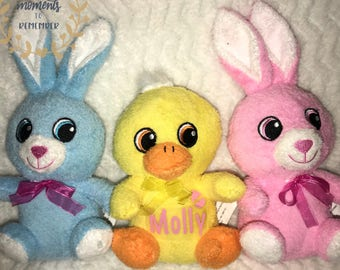 Personalized colorful plush animals