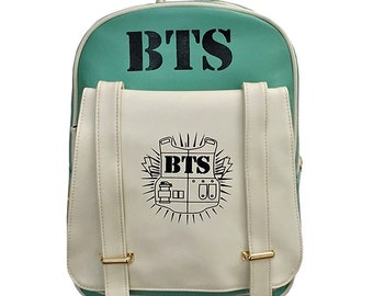 BTS Kpop Backpack, BTS Printing Girls bag, Bangtan Boys, Student Girls Schoolbag, Travel bag, Kpop Women Backpacks for Teenage
