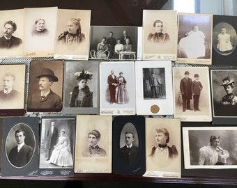 Lot of 20 Authentic Vintage cabinet photographs.#2