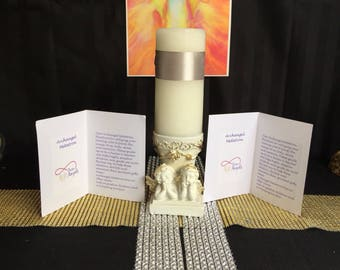 Pure angels candle and prayer pack Archangel Metatron