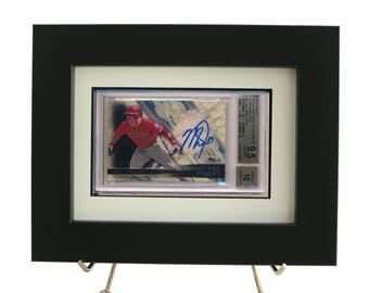 Sports Card Frame for a BGS (Beckett) Graded Horizontal Card (White Design)
