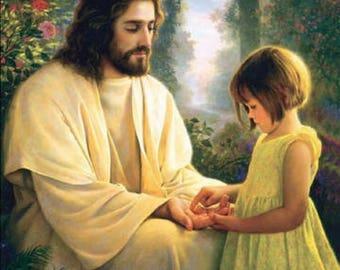 Diamond painting Jesus, diamond inlay diy painting, mosaic style, painting