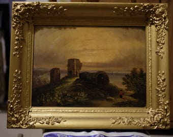 Antique 19th Century Oil Painting in Period Frame