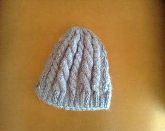Knit Ponytail winter hat