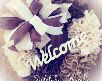 Neutral Welcome Wreath