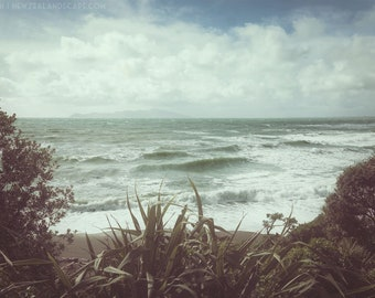 Photo Print - Kapiti Coast, New Zealand Beach Art, Retro Decor