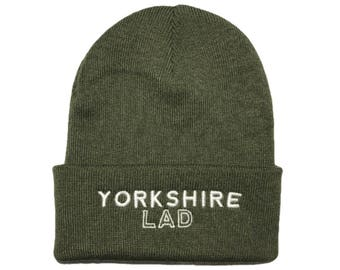 Yorkshire Lad Beanie Hat - Green