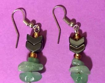 Hematite Jade Earrings