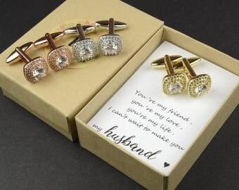 Groom gift from bride on wedding day personalized cufflinks custom cufflinks silver gold cufflinks wedding cufflinks groom cufflinks square