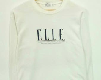 Rare!!! Elle big logo sweatshirt